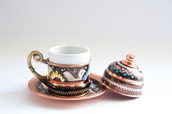 Turkish Copper Coffee Cup