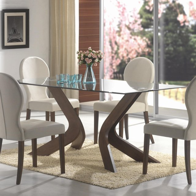 Mulberry Walnut Sculpted Dining Set