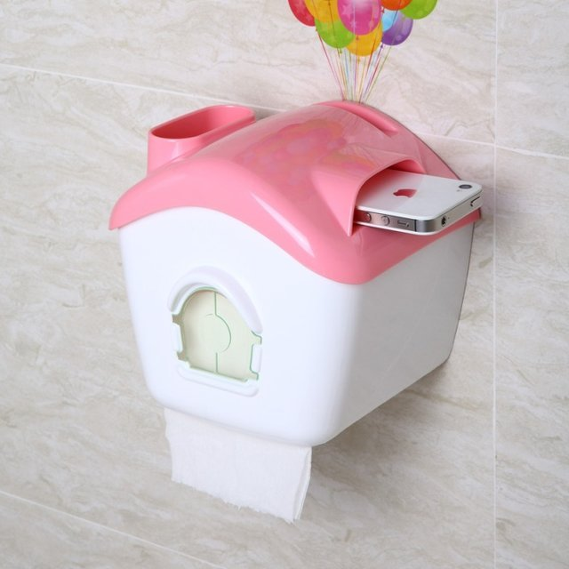 Up Balloons House Toilet Tissue Box