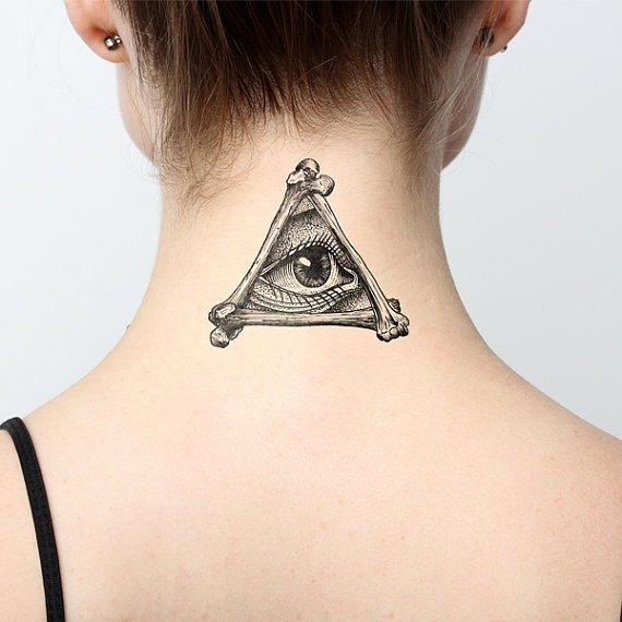 Illuminati Temporary Tattoo