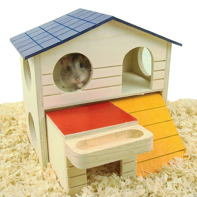 Natural Wooden Hamster House