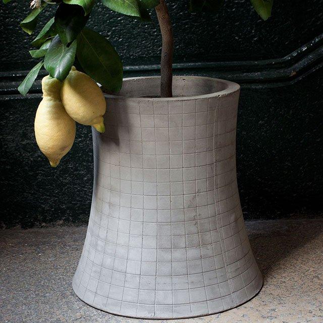 Nuclear Plant Concrete Flower Pot