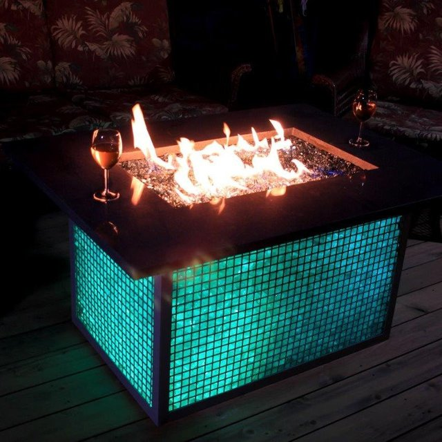 Color Changing Fire Pit Table