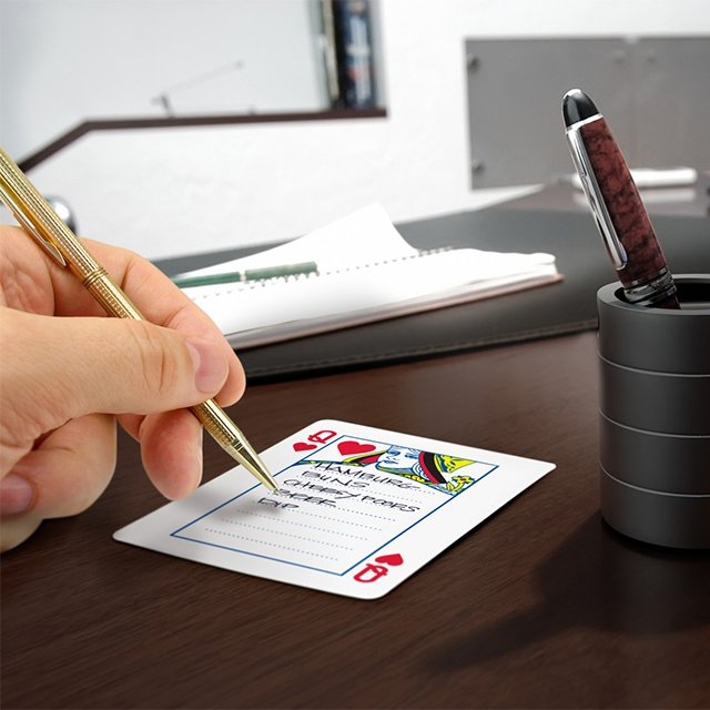 Big Deal Playing Card Notepad