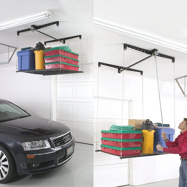 Racor Cable-Lifted Storage Rack