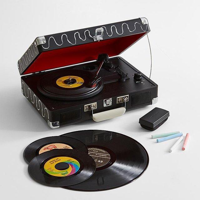 Crosley Chalkboard Vinyl Record Player