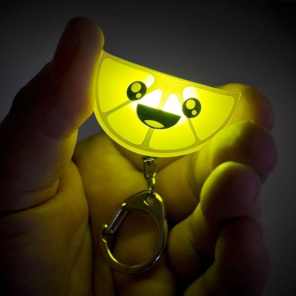 Lemon Squeezy Light Keychain
