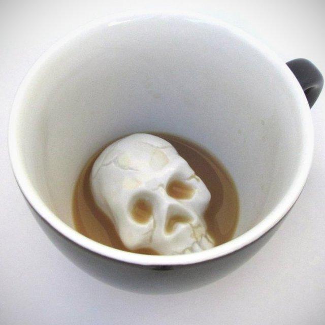 Creepy Skull Mug