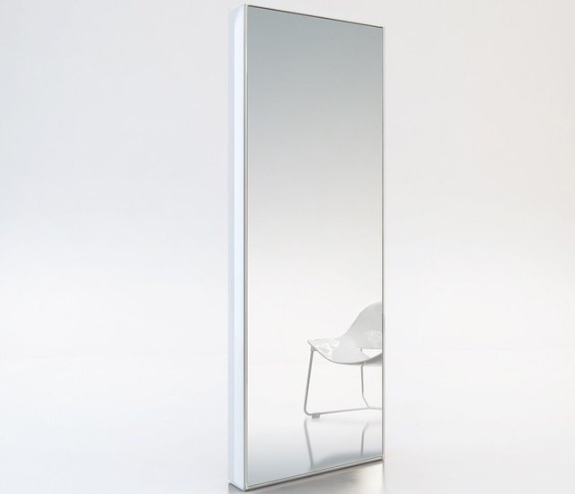 Taft White Full-Length Mirror