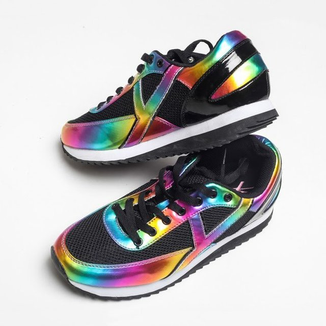 Rainbow Flash Sneakers