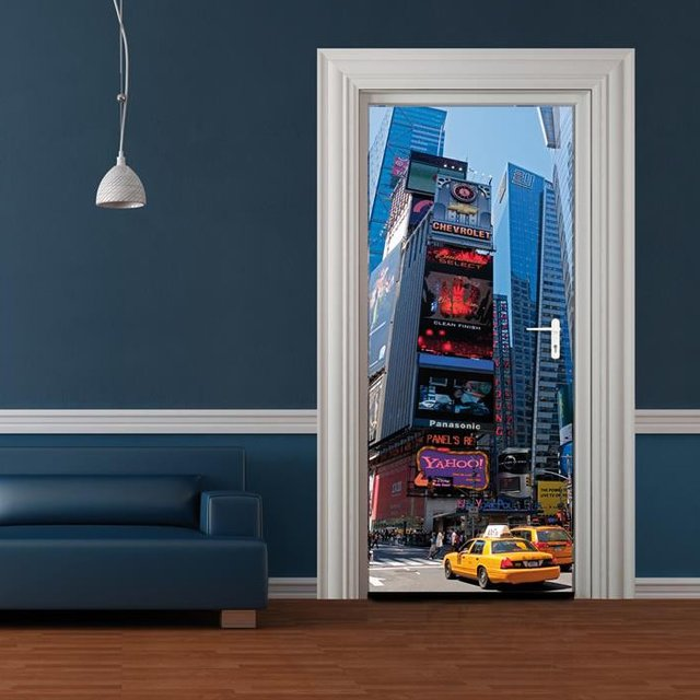 New York Times Square Door Mural