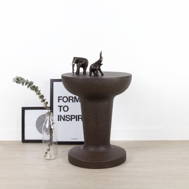 Pushpin Dark Cork Stool
