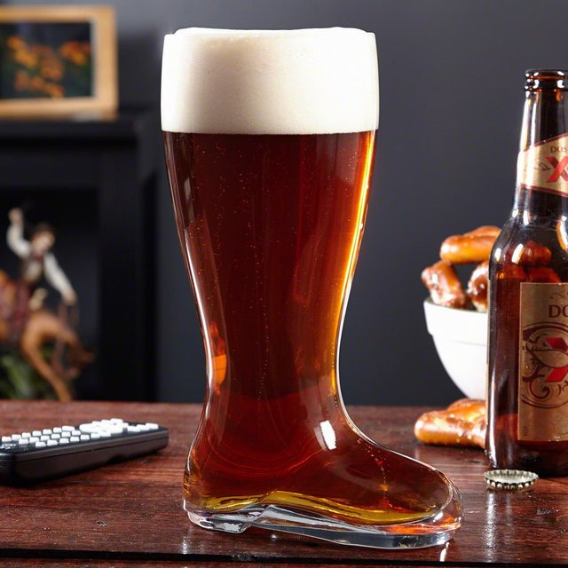 XL Glass Beer Boot