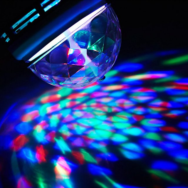 Rotating LED Disco Light Bulb