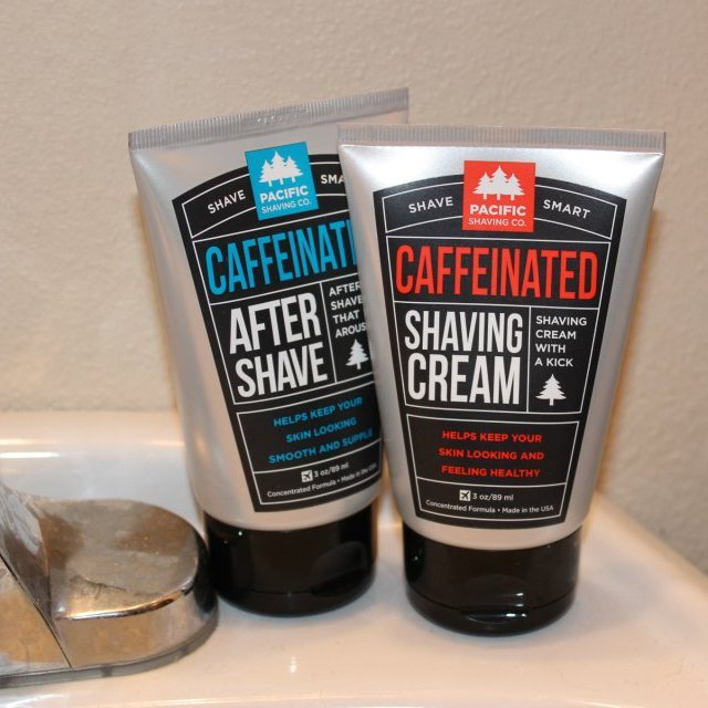 Caffeinated Shaving Cream & Aftershave Set