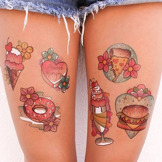 Just a Bite Temporary Tattoos Set