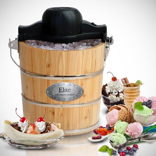 MaxiMatic Old-Fashioned Bucket Ice Cream Maker