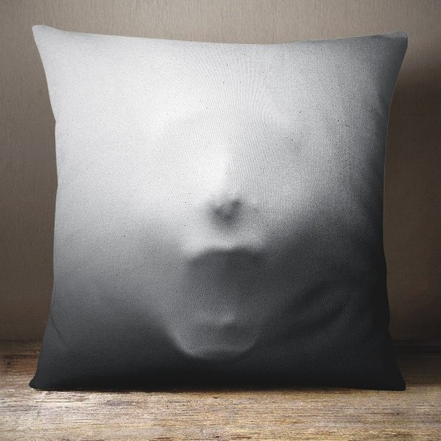 Screaming Face Pillow