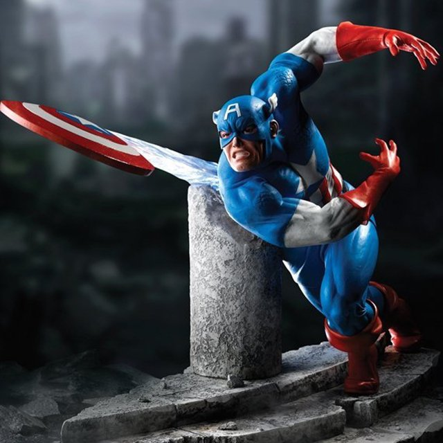Limited Edition Captain America Figurine