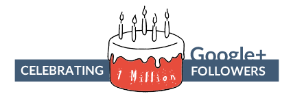 PetaGadget Celebrating 1 million followers on Google Plus