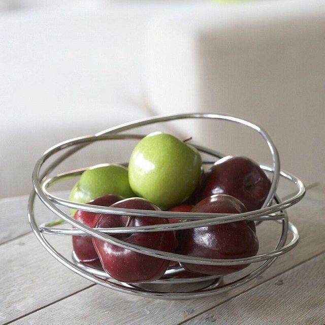 Fruit Loop Chrome Wire Bowl by Black + Blum