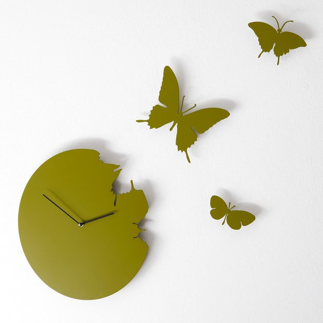 Butterfly Wall Clock by Diamantini & Domeniconi