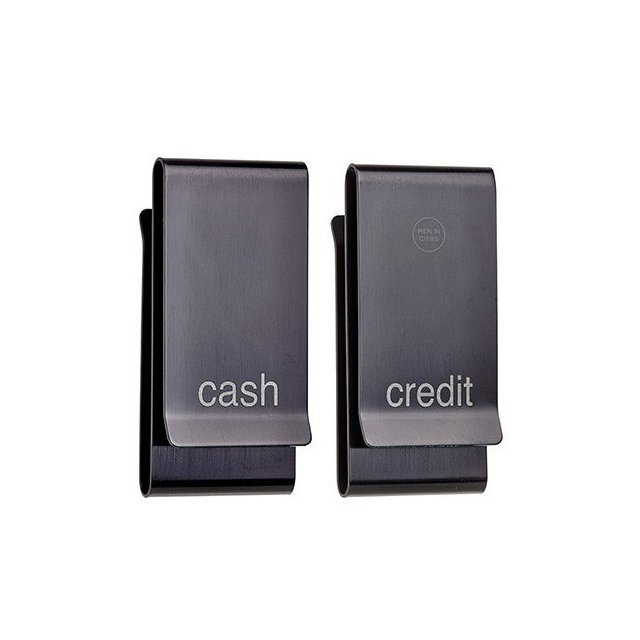 Double Sided Cash and Credit Money Clip in English
