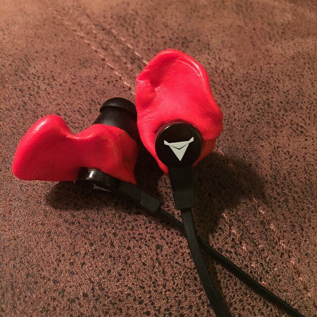 Decibullz Molded Red Earphones