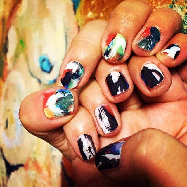 Watercolor Nail Wraps by Tattify