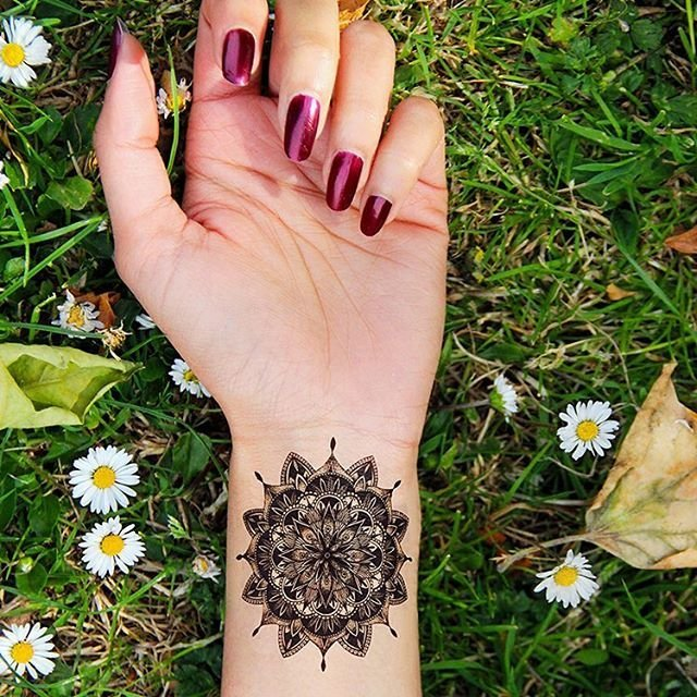 Mandala Temporary Tattoo by Tattify