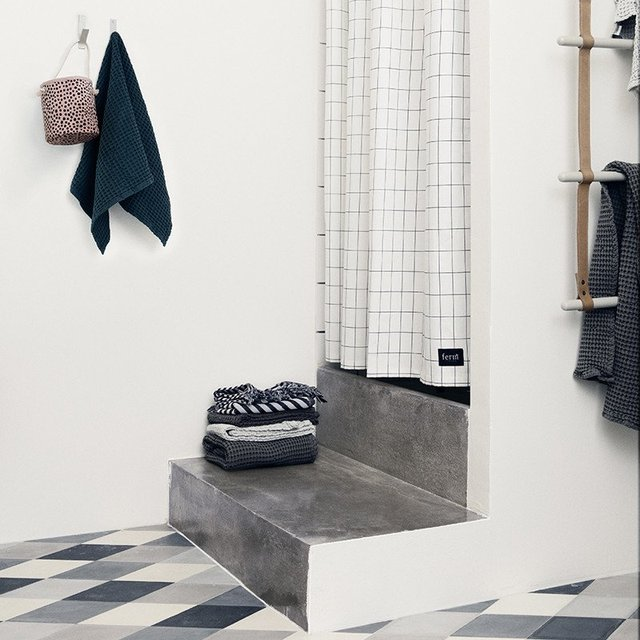 Grid Shower Curtain by Ferm Living
