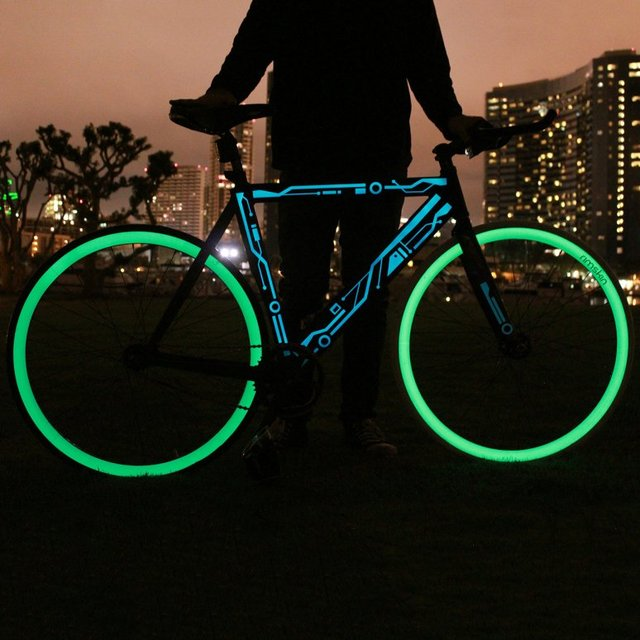 Glow in the Dark Bicycle Wheel Skins by Rimskin