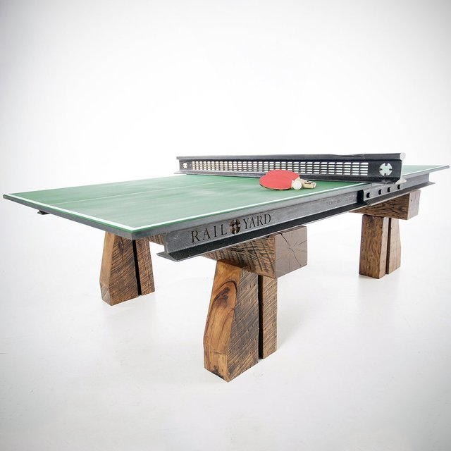Reclaimed Rail Table Tennis Table