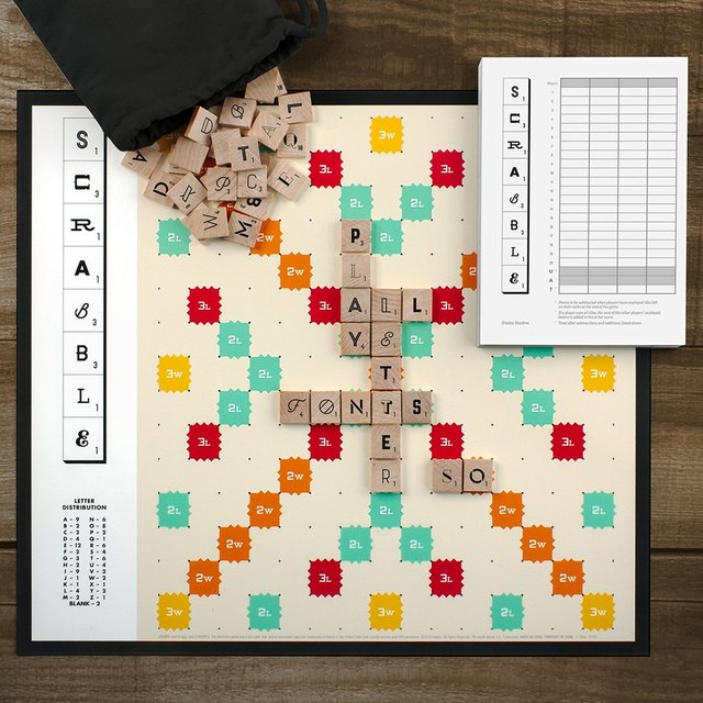 Scrabble Typography 3rd Edition by Andrew Capener