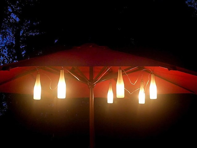 Bottle Umbrella String Lights