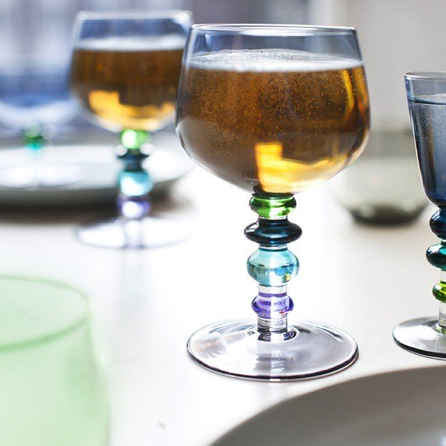 Blue Spectra Wine Glasses