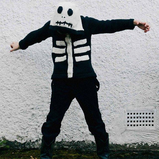 Kids Organic Cotton Skeleton Sweater