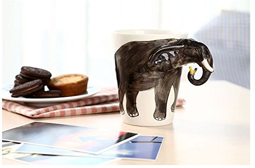 Hand-painted Ceramic Elephant Mug