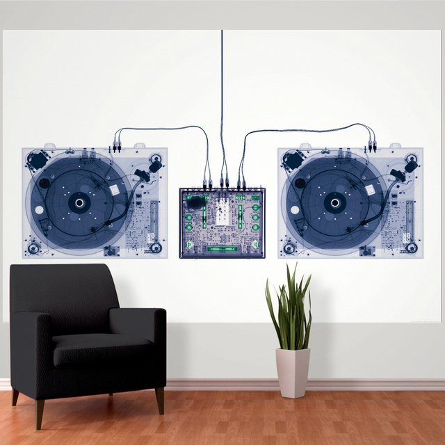 X-Ray DJ Decks Mural