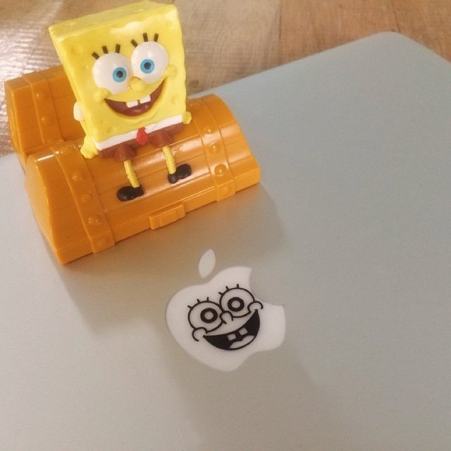 Sponge Bob MacBook Decal