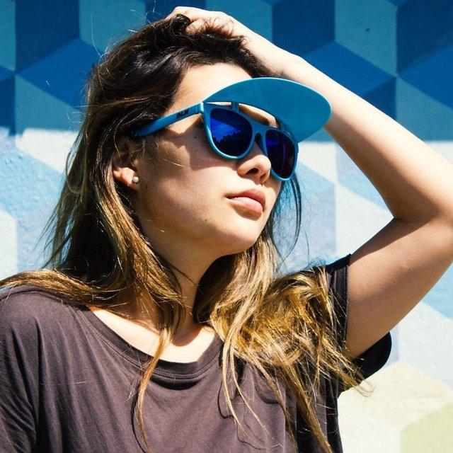Blue Vintage Flip Up Visor Sunglasses