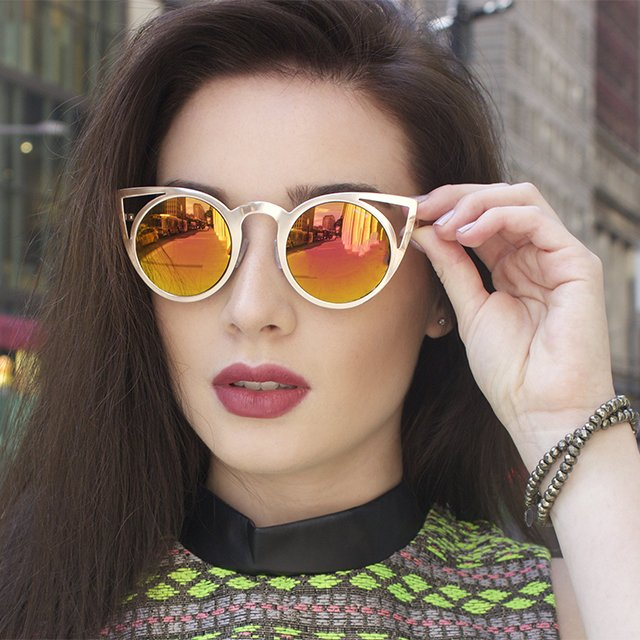 Luna Round Cat Eye Sunglasses by FREYRS