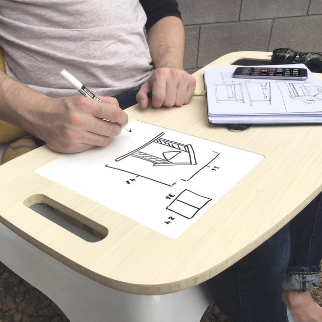 Slice White Board LapDesk by iSkelter