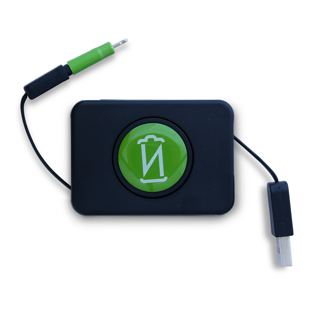 Retractable Micro USB Cable + Lightning Adapter
