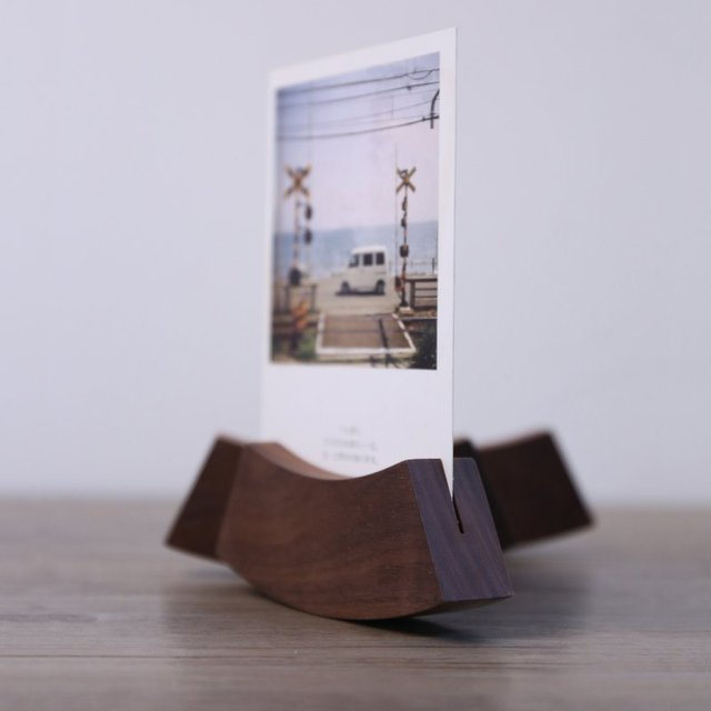 Wooden Tabletop Photo Holder