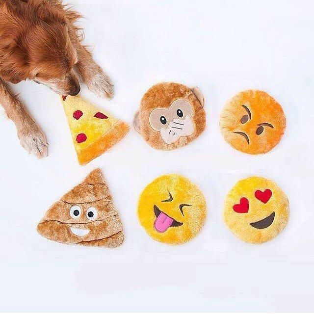 Squeakie Emojiz Dog Toys