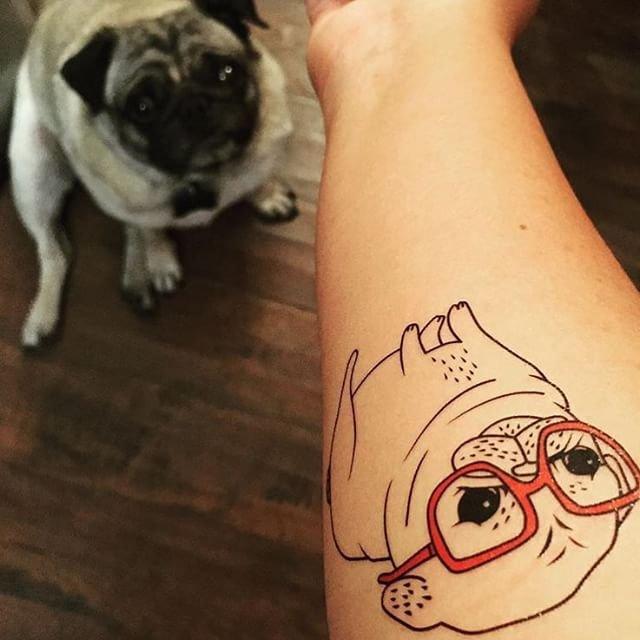 Puppy Love Temporary Tattoo