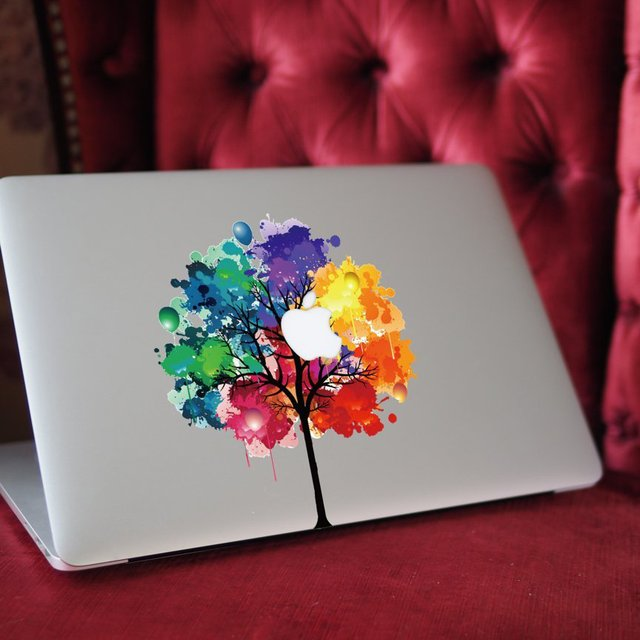 Colourful Tree MacBook Decal