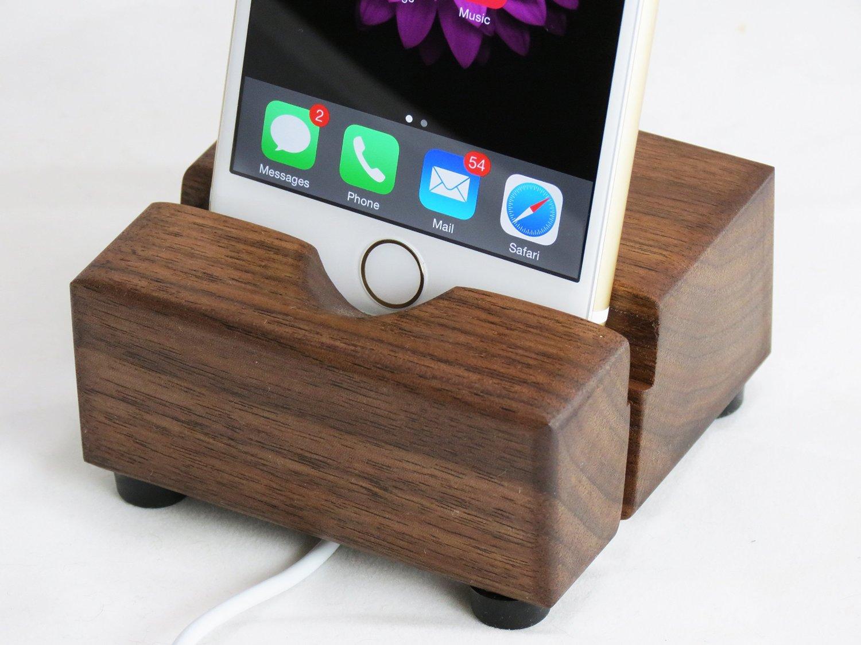 Black Walnut Iphone Stand