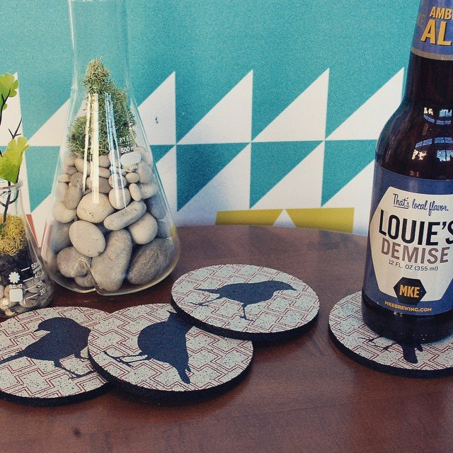 Cheeky Birds Coasters by Flox Home